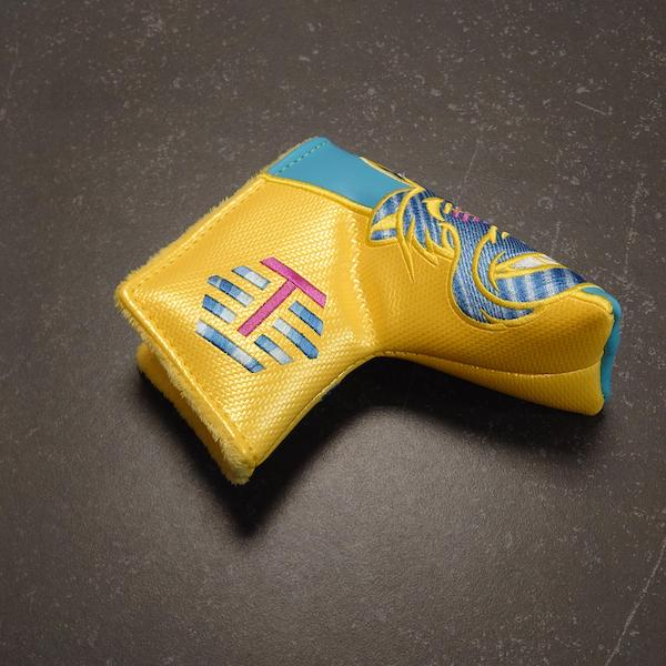 Bettinardi Carbon Fat Cat yellow/blue - Headcover blade