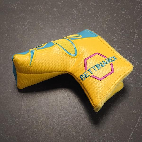 Bettinardi Carbon Stinger yellow/blue - Headcover blade